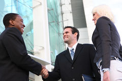 Diverse Business Team Shaking Hands Stock Photography