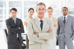 Diverse business team smiling at camera Royalty Free Stock Photo