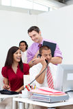 A diverse business team working together Royalty Free Stock Images