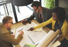 Diverse business teamwork planning new project stock photography