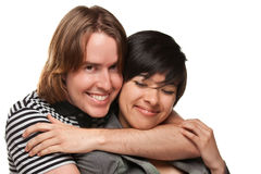 Diverse Caucasian Male and Multiethnic Female Stock Images