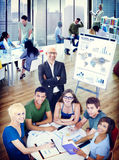 Diverse Cheerful People in an Office Building Stock Images