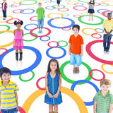Diverse Children in Colorful Circle Royalty Free Stock Photography