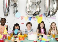Diverse children shoot Royalty Free Stock Images