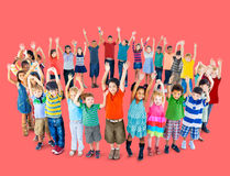 Diverse Children Standing Circle Friendship Concept Stock Images
