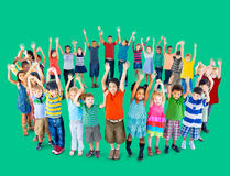 Diverse Children Standing Circle Friendship Concept Royalty Free Stock Photography