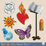 Diverse clipart Royalty-vrije Stock Afbeelding