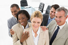 Diverse close business team smiling Royalty Free Stock Images