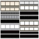 Diverse collection de fond de bande de film Photos stock