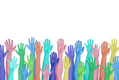 Diverse Colourful Hands Stock Photo