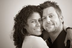 Diverse couple; closeness Royalty Free Stock Image