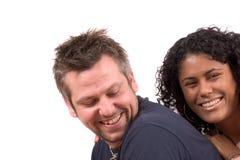 Diverse couple; having fun Stock Photo