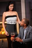 Diverse couple at home Royalty Free Stock Photo