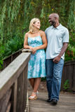 Diverse Couple at the Park Stock Photo