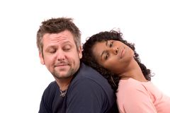 Diverse couple; relaxing Royalty Free Stock Images