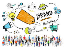 Diverse Crowd People Marketing Brand Concept Royalty Free Stock Image
