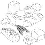 Diverse cuisson de pain de schéma Image libre de droits