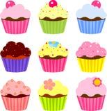 Diverse cupcake Stock Foto's