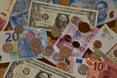 Diverse currencies Money stock photos