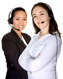 Diverse customer service partners Stock Image