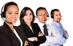 Diverse customer service team Stock Image