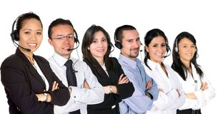 Diverse customer service team Royalty Free Stock Image