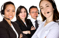 Diverse customer service team Stock Photo