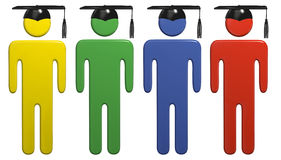 Diverse de graduatieGLB studenten van het schoolonderwijs Royalty-vrije Stock Afbeelding