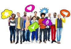 Diverse de Variatieeenheid Team Concept van het Diversiteits Etnische Behoren tot een bepaald ras Stock Foto