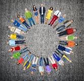 Diverse de Vriendschaps Vrolijke Samenhorigheid Concep van het Mensengeluk Stock Foto
