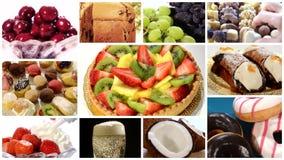 Diverse dessertscollage stock videobeelden