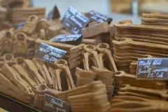 Diverse die hulpmiddelen van chocolade worden gemaakt Stock Foto
