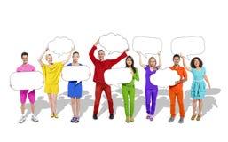 Diverse Diversity Ethnic Ethnicity Speech Bubbles Concept Royalty Free Stock Photo