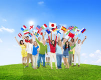 Diverse Diversity Ethnic Ethnicity Variation Unity Togetherness. Concept Royalty Free Stock Images