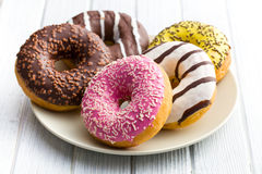 Diverse donuts Stock Afbeelding