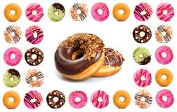 Diverse doughnuts Royalty-vrije Stock Foto's