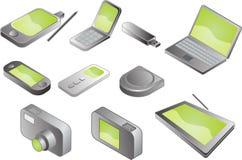 Diverse elektronische gadgets stock illustratie