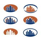 Diverse emblemen van een bureau Stock Afbeeldingen