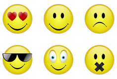 Diverse emoticons Royalty-vrije Stock Foto
