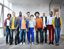 Diverse Ethnic Business Occupation Cheerful Variation Concept Stock Image