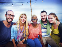 Diverse Ethnic Friendship Party Leisure Happiness Concept Royalty Free Stock Photography
