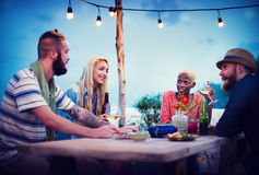Diverse Ethnic Friendship Party Leisure Happiness Concept Royalty Free Stock Image