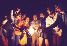 Diverse Ethnic Friendship Party Leisure Happiness Concept Stock Photos