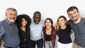Diverse ethnicity people are in a shoot royalty free stock photos