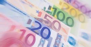 Diverse euro nota'sachtergrond Stock Foto