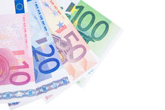 Diverse euro nota'sachtergrond Stock Fotografie