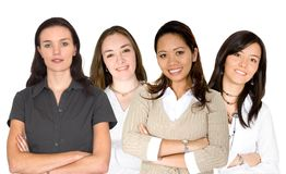 Diverse female business team Stock Photography