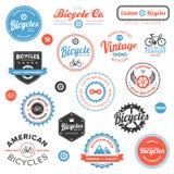 Diverse fietsetiketten en emblemen Stock Foto's