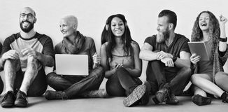 Diverse Friends Group Team Together Trendy Concept Royalty Free Stock Photos