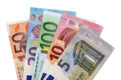 Diverse geïsoleerde euro Royalty-vrije Stock Afbeeldingen